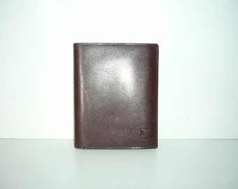 Brown wallet purse leather look wallet