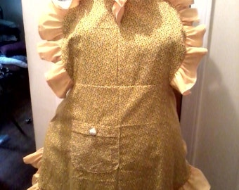 Bright Yellow Whimiscal Apron