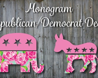 Democrat Republican Lilly Pulitzer Inspired Decal