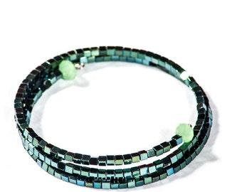 Memory Coil Bracelet with Hematite