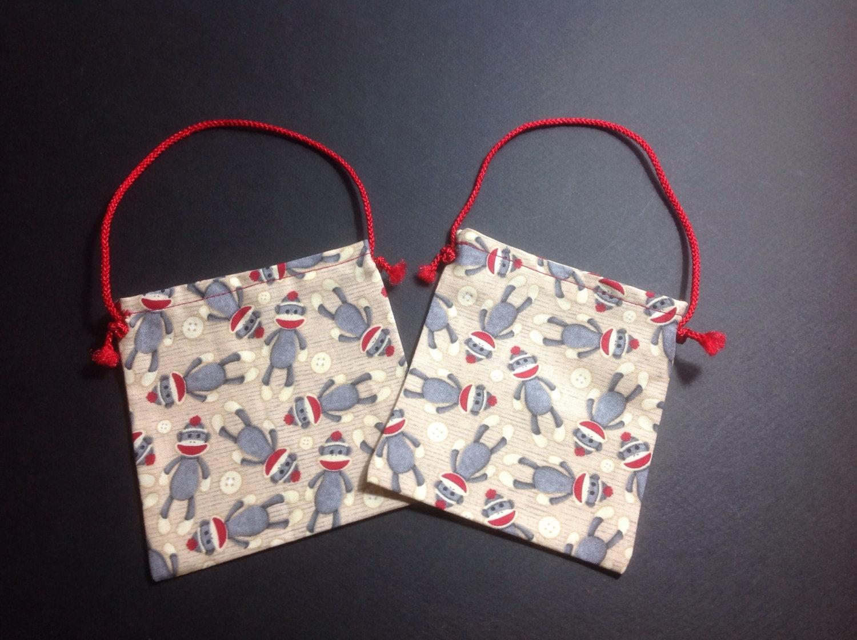 Small fabric gift bags christmas bag