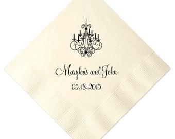 Personalized Napkins Personalized Napkins Wedding Napkins Custom Monogram Chandelier Elegant Reception