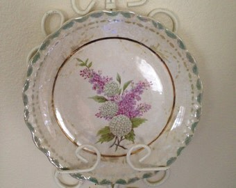 Wall Plate Holder White Wrought Iron