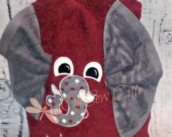 Elephant Hooded Towel, Hooded Towel, Personalized Hooded Towel, Child's Hooded Towel
