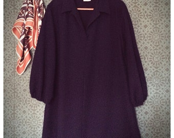 70's navy tunic or minidress S/M/L