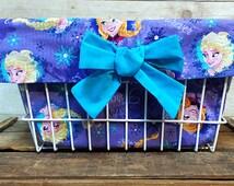 Purple Frozen Theme Bike Basket Liner