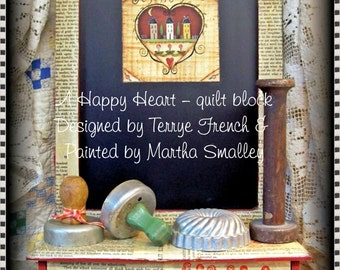A Happy Heart - Painted by Martha Smalley,  Painting With Friends E Pattern