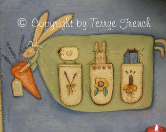 Bunny Floor Cloth by Terrye French, E-Pattern