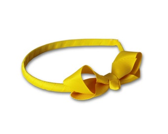 yellow headband, Bow Headband, Girls Headband, toddler headband
