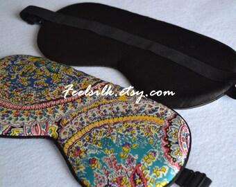 Free shipping 1pc silk eyewear sleep silk eye mask  eye masks eye pillow travel mask sleeping eye mask big size