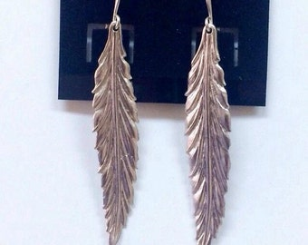 Silver Plated Willow Leaf Earrings
