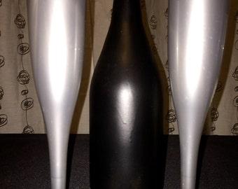 Silver Champagne Flute