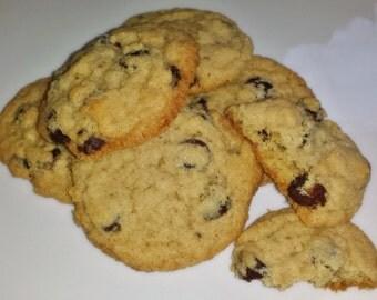 Delicious, Celiac-Friendly, Gluten Free, Chocolate Chip Cookies - 1 Dozen