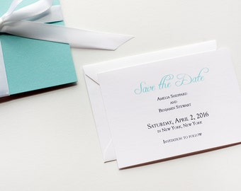 Tiffany Inspired  Save- the- Dates