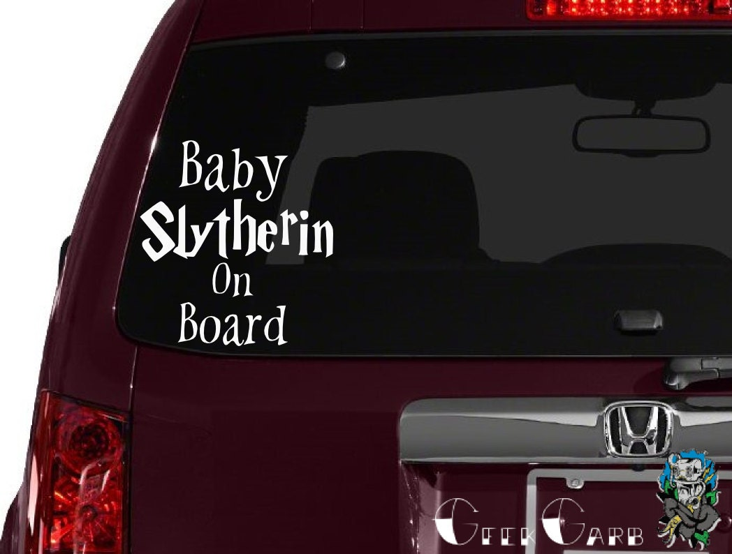 Baby Slytherin On Board Car Decal Macbook Decal Laptop - Window decals for cars near me