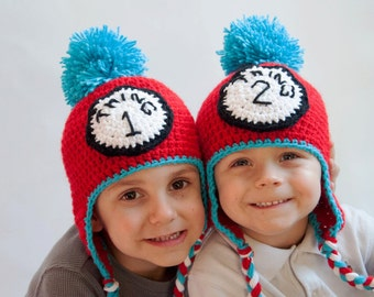 Thing One and Thing Two Hats, Thing 1 & Thing 2 Hats, Dr. Suess Hats