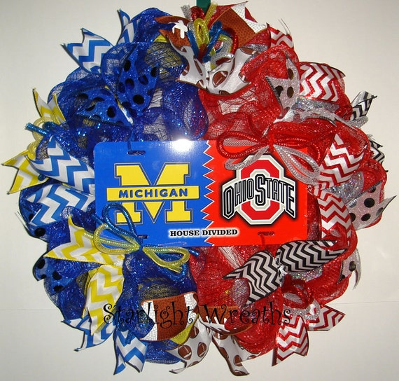 Michigan Vs Ohio State House Divided Mesh By Starlightwreaths