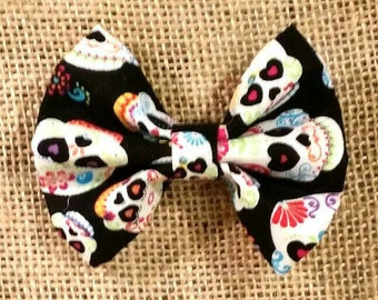Sugar Skulls Fabric Hair Bow