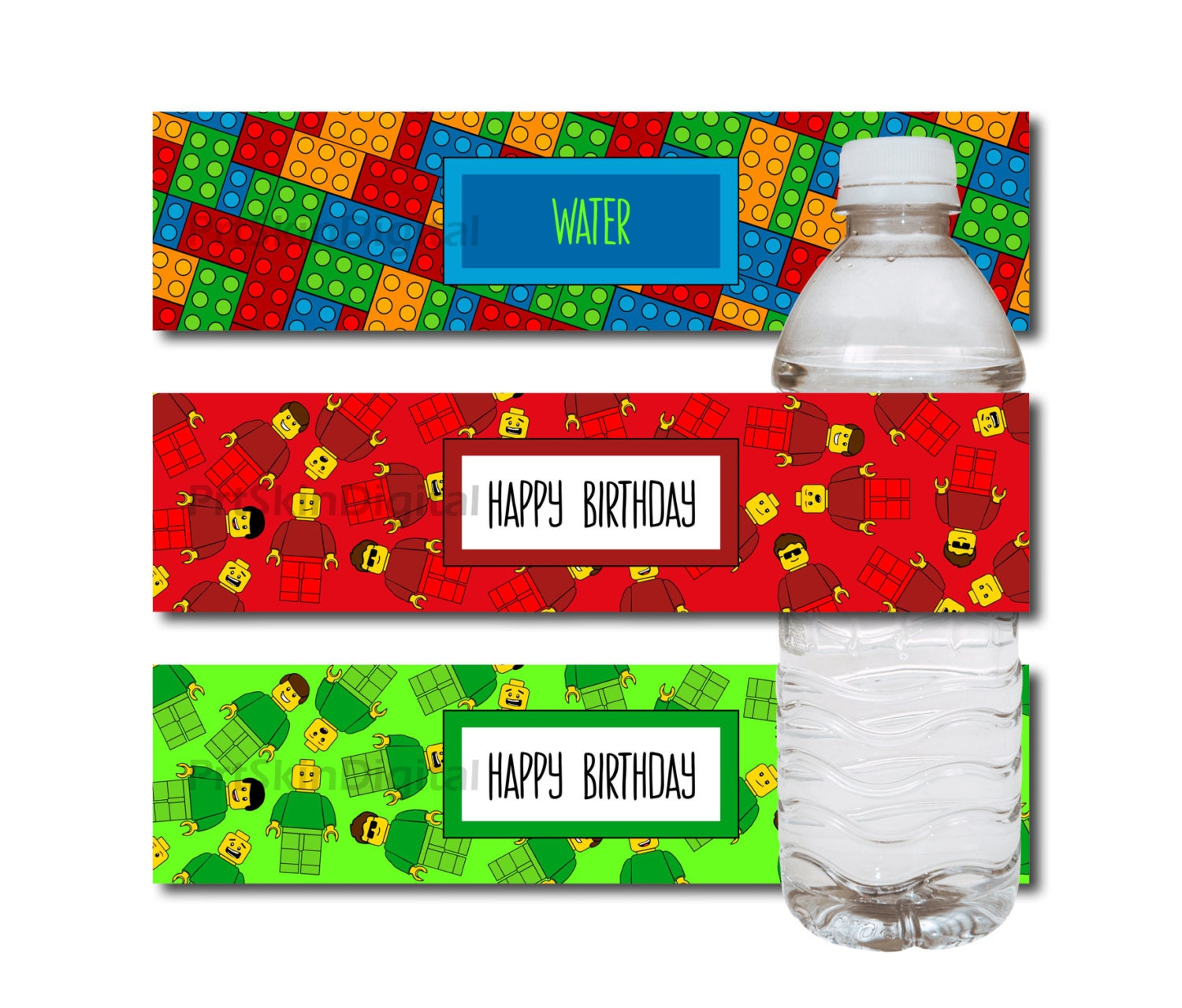 Lego Water Bottle Label Lego Labels For Birthday By