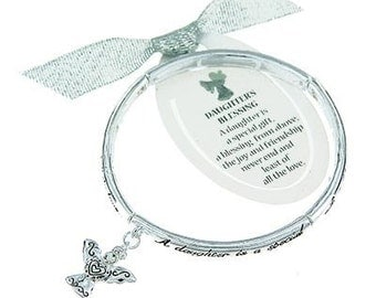 INSPIRATIONAL Daughter's Blessing Bracelet-with Angel Charm