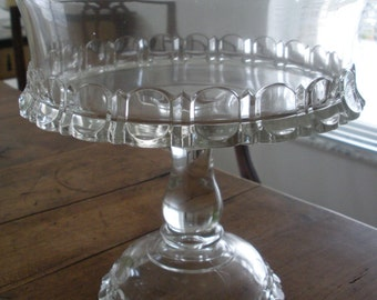 """Apollo pattern EAPG compote by Adams, c.1875. Compote measures 10"""" x 8"""". In perfect condition."""