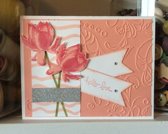 Hello Love Delicate Flower Card