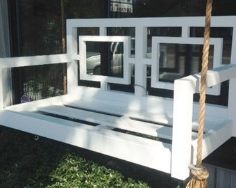 The Georgia Geometric Hanging Bed/Swing Bed