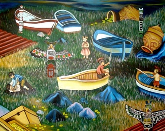 100 x 100 cm oil painting amidst vu BA 2010