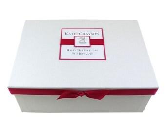 21st Birthday Keepsake Box - Square Design