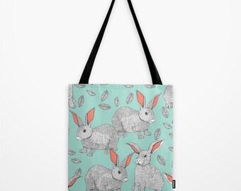 "Rabbits - Tote bag 16"" x 16"""