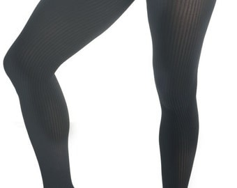 Mantyhose, Pantyhose For Men Black Ribbed