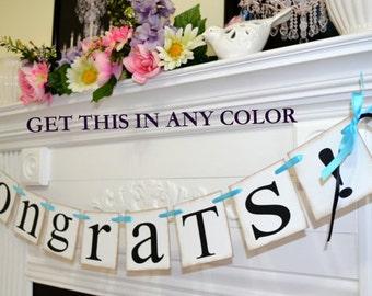 Congrats Banner, Congratulations Sign, Congrats Garland, Graduation Banner, Engagement Banner, Retirement, New Job, New Baby, Celebration