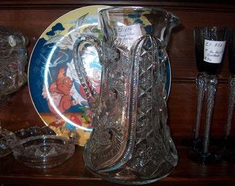 Vintage Pressed Glass Pitcher, WAS 60.00 - 20% = 48.00