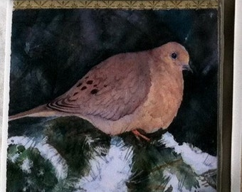Little Dove -4x4 ceramic tile wall hanging
