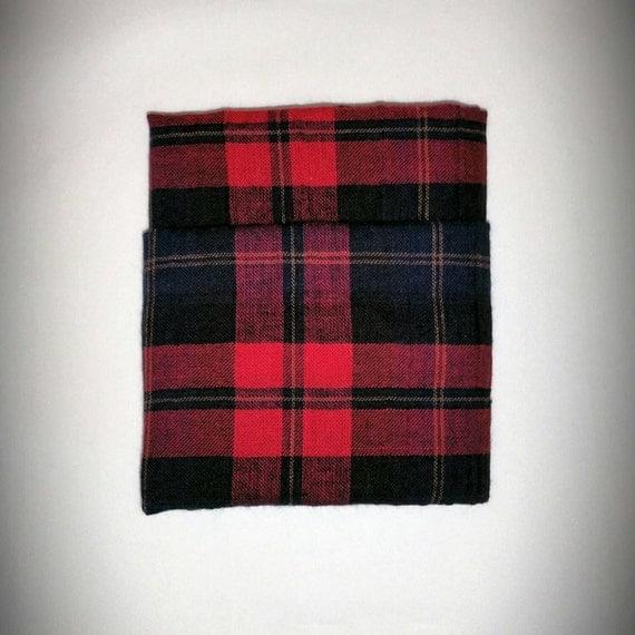 Red and Black Plaid Pocketsquare