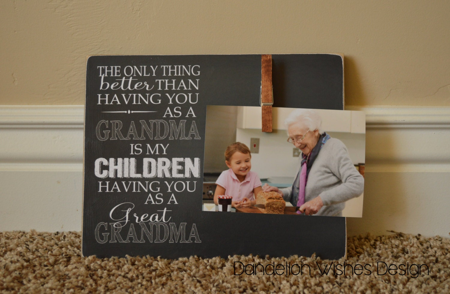 mothers day gift idea great grandma gift custom photo frame only thing better you as a grandma grandparents day gift for grandma