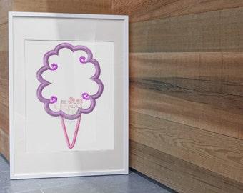 Instant Download ~Cotton Candy Machine Applique Design~
