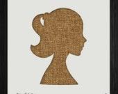 Woman Girl Head Style 1311, DIY Plastic Stencil Acrylic Mylar Reusable