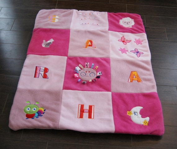 personalized play mat padded floor blanket by