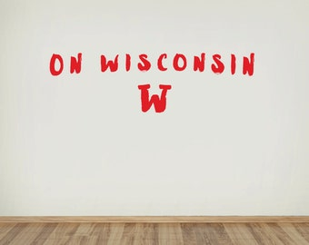 On Wisconsin Adhesive Wall Decal