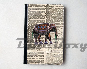 Elephant on Dictionary Passport Cover - Passport Holder, Passport Wallet