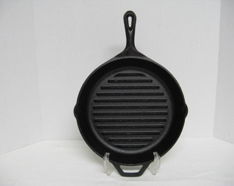 Lodge USA Cast Iron Grill Pan 9TD #5992