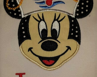 Custom Applique Mickey Minnie Disney Cruise Tee