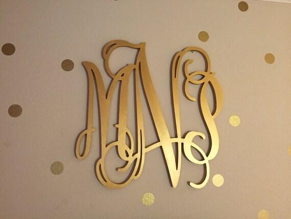 gold wooden monogram wall hanging letters monogram door hanger nursery decor wood monogram