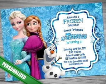 Frozen Invitation - Disney Frozen Invitation - Printable Frozen Invitation -Frozen Birthday Invitation - Birthday Party Ideas Elsa Anna Olaf