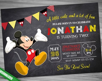 Mickey Chalk Invitation Mouse Chalk Invitation MICKEY CHALK Invitation Mickey Mouse chalk invitation Mickey Invitation