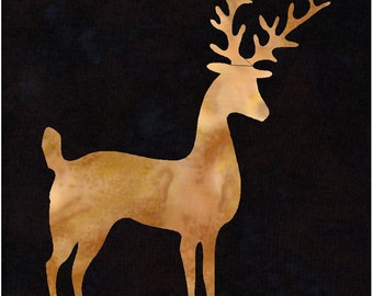 Deer Reindeer Applique Pattern Design (easy)