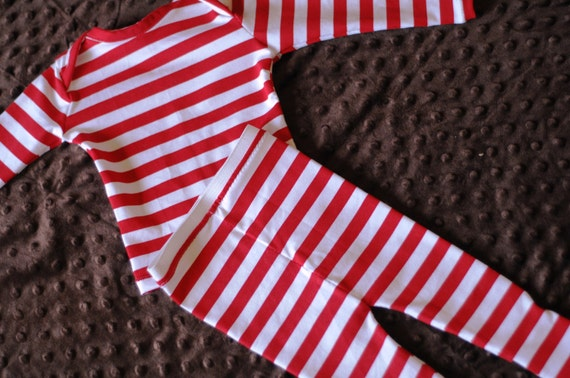Toby Labyrinth Red White Striped Pajamas Costume