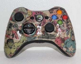 Xbox 360 Custom Avengers Wireless Comic Controller Captain America Iron Man Hawkeye Hulk Thor Collage
