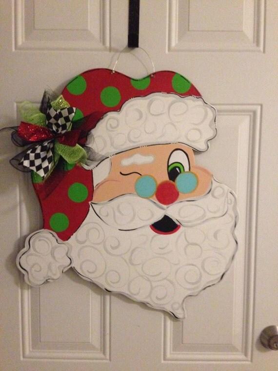 Santa door hanger christmas